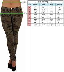 Vip Jeans Size Chart Vip Jeans Womens Five Pockets Camouflage Stretch Skinny