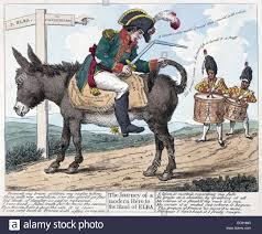 Colour Engraving Of Napoleon Bonaparte S Exile To Elba Dated 1814