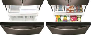 freezer drawer organization set of 2 large freezer bins refrigerator organizer trays kitchen