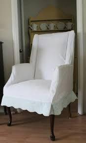 lovely slipcover dresses up vine chair