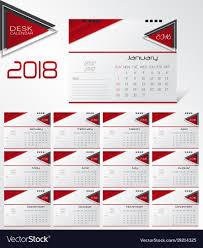 Calender Design Template Wall Calendar For 2018 Year Design Template Vector Image