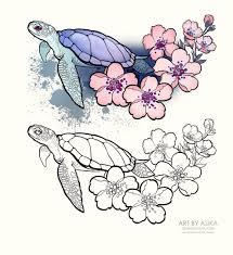Artskillus эскизы тату иллюстрации Vk черепашки ящерки