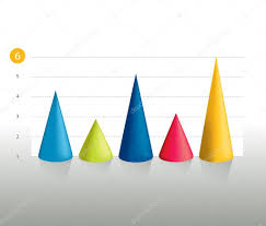 3d Infographic Cone Chart Graph Info Graphics Bar Stock