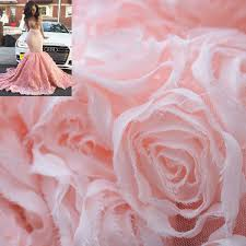 3D Mesh Rose Chiffon <b>Lace</b> Fabric by the Yard | 14 Colors Available ...