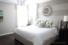 Bedroom, Master Bedroom Paint Colors Furniture Design With Striped Wall  Combined Grey White Sheet Throughout