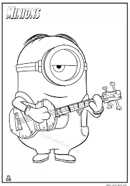 Small Picture Minion with guitar coloring pages afbeeldingen Pinterest