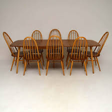 1960 s ercol grand windsor dining table eight chairs