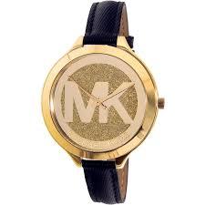 michael kors michael kors women s slim runway gold tone case leather strap watch mk2392 com