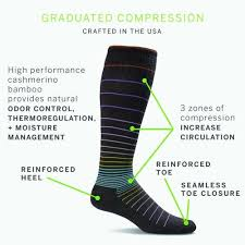 Sockwell Socks Size Chart Sockwell Circulator Womens Moderate Compression S Black
