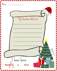 Christmas Wish List Printable Printable My Christmas Wish List For Santa 12
