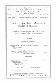 sample concert program ums concert program october 24 1959 boston symphony orchestra