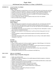 Example Of A Waitress Resume Waiter Resume Samples Velvet Jobs 18
