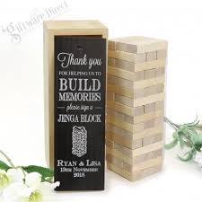 Wedding Guest Book Personalised Jenga Wedding Guest Book Gift