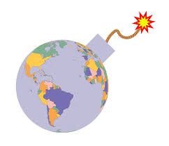 fuse clipart political map earth globe bomb