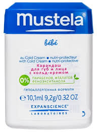 Mustela <b>Карандаш для губ и</b> лица с кольд-кремом