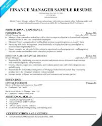 Finance Manager Sample Resume. Outstanding Finance Manager Resume ...