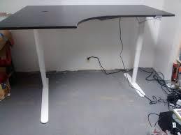 sit stand corner desk hack bekant desk sit stand screen