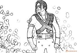 Beautiful Hello Neighbor Coloring Pages Michael Jackson Smooth