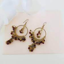 chandelier earrings drop earrings dangle earrings gold earrings boho earrings bohemian earrings gypsy earrings hippie gift