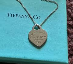 details about authentic return to tiffany co silver dog tag engraved heart 16 necklace 925