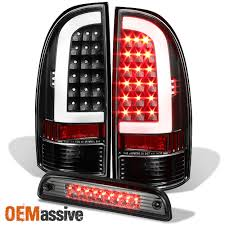 2008 Toyota Tacoma Brake Light Bulb Fits 05 15 Toyota Tacoma Led Tube Black Tail Lights Smoked Led 3rd Brake Light