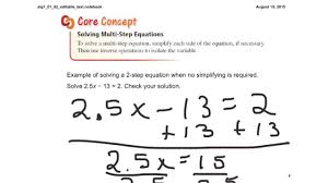 lesson 1 2 solving multi step equations using inverse operations