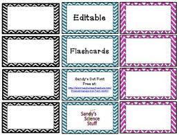 Editable Flash Cards Under Fontanacountryinn Com