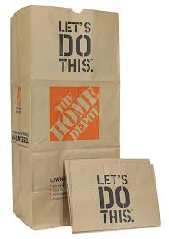 the home depot 49022 10pk heavy duty brown paper lawn and refuse bags for home and garden 30 gal pack of 10 ca industrial scientific