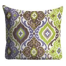 Purple Green Outdoor Pillows Throw PillowsPatio Pillows