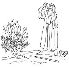 Small Picture Moses coloring pages the burning bush ColoringStar