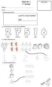 Free Worksheets » 1st Grade Esl Worksheets - Free Math Worksheets ...