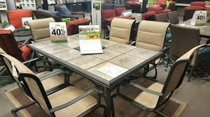 belleville 7 piece patio dining set bay 7 piece padded sling outdoor dining set bay 7