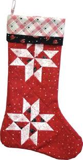 Porch Swing Quilts: Friday Finish: Stockings! | Patchwork and ... & Download Starflakes Stocking free pattern by Maywood Studios · Christmas  QuiltingChristmas ... Adamdwight.com