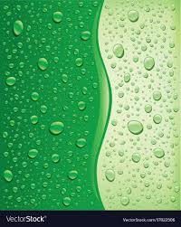 Water Droplets Background Green Water Droplets Background Royalty Free Vector Image