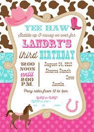 Cowgirl Birthday Decorations Cowgirl Birthday Invitations Ctsfashioncom