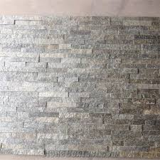 quartize ledgestone wall tile cladding grey quartzite culture stone tile slate corner and brick stacked stone