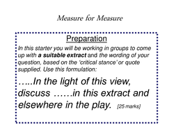 measure for measure revision question formulation essay tips mfm set your own exam questions ppt