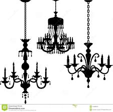 antique chandelier silhouettes eps stock photos