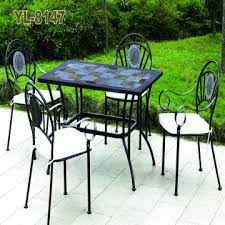 po001 mosaic with steel country style garden furalarm security systems niture 6chairs with one tabletable selectronic