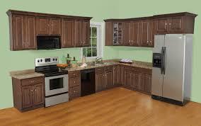 Excellent Maple Cognac Kitchen Cabinets American Woodmark Delray Tan