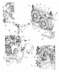 2006 chrysler 300 radiator related parts diagram 00i98415