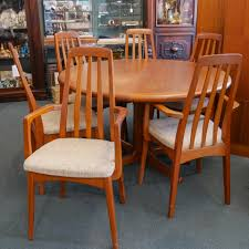 Danish Modern Dining Table Designer Danish Modern Dining Room Chairs Olivers Twist Antiques