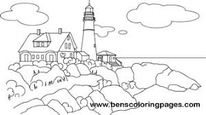 Small Picture Maine light house free coloring book