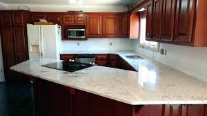 for kitchen light color granite with sink cutout and dark wood countertops white cabinets a