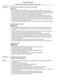 Public Health Resume Sample Intern Health Resume Samples Velvet Jobs 88