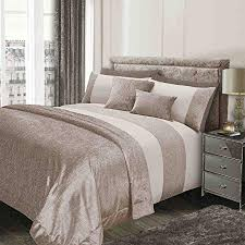 velvet bedding king. Sienna Glitter Duvet Cover With Pillow Case Sparkle Glitz Velvet Bedding Set Natural Gold Cream Throughout King