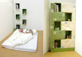 Best Concept Compact Beds For Small Rooms Nice Ideas Fushion Great  Decorating Shelving Bookcase Space Saving