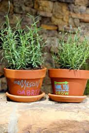 diy teacher gift idea love this personalized potted plant idea from j sorelle