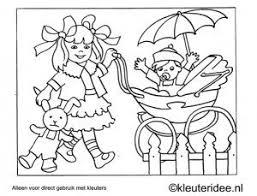 Kleurplaat Wandelen Met De Kinderwagen Kleuteridee Preschool