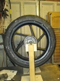the whole wheel on diy balancer